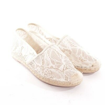 Valentino Espadrilles Taille D 41 Blanc Chaussures Femmes Plates Mocassins 0cdf3ae3823