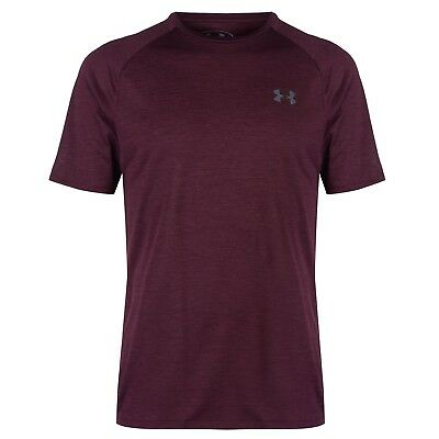 UNDER ARMOUR Mens Technical Training Tshirt Maroon Red Size Large L BNWT