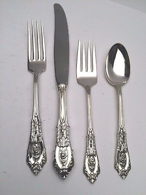 Rose Point by Wallace Sterling Silver individual 4 Piece Place Setting