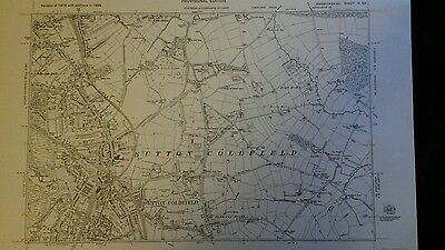 Original Ordnance Survey 6 inch - 1 mile map.Sutton Coldfield Birmingham 1938