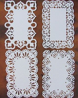 Elegant 4 Pack White Lace Card Toppers - Works With 6 X 4 Cards Unique Stunning