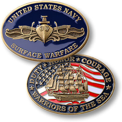 U.S. Navy Surface Warfare Officer /  Warriors of the Sea - USN Challenge Coin