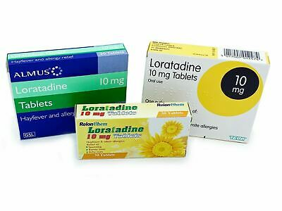 Loratadine 10mg Hayfever Pet Allergy Itchy Skin Relief (8x30= 240) Tablets