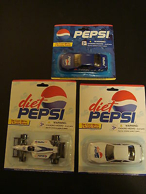 3 - Vintage Pepsi Golden Wheels Die Cast Metal & Plastic Parts