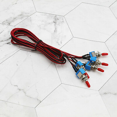 5 x SPST Toggle Switch Wires On/Off Metal Micro Automotive/Boat/Car/Truck