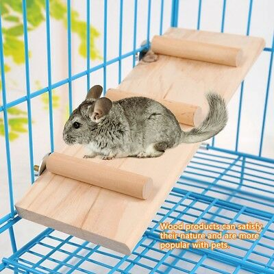 Wooden Stair Ladder Plate Rodent Hamster Mouse Gerbil Small Pet Cage Toys
