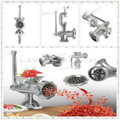 Heavy Duty Hand Operated Manual Kitchen Meat Mincer Beef Grinder Sausage HZW