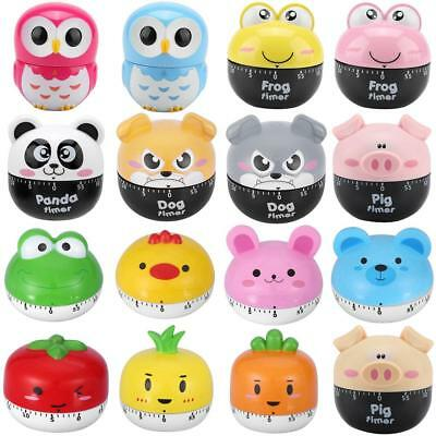 Lovely Cartoon Kitchen Timer Mechanical Countdown Loud Clock 55 Minutes Cooking