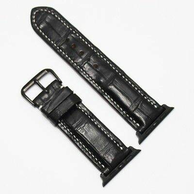 42/44mm Strap Band Genuine Alligator Crocodile Leather for Apple Watch Series1-4
