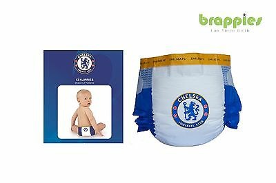 Official Chelsea FC Baby Nappies, Present, Gift Merchandise Dif Sizes