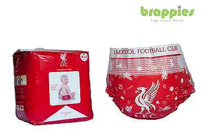 Official Liverpool FC Baby Nappies, Present, Gift, Brappies Dif Sizes