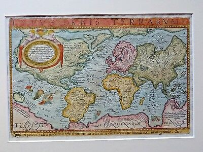1596 Lambert Andreas Typus Orbis World Map Mercator Imaginary Islands Australis