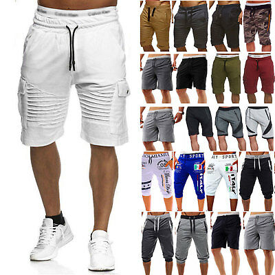 AU Mens Chino Shorts Cotton Summer Casual Cotton Cargo Work Combat Half Pant Y