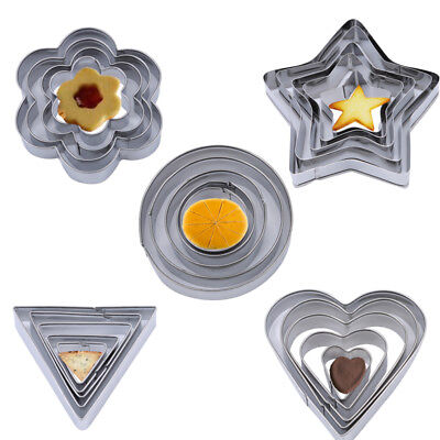 Flower Round Stars Love Heart Shape Cookie Cutter Mold Pastry Biscuit Mould B