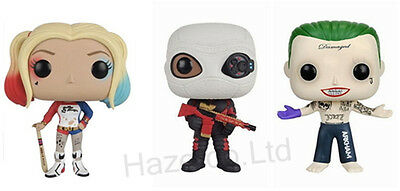 Suicide Squad Joker Harley Quinn Deadshot Character Figure Doll with Box