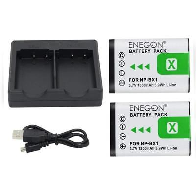 NP BX1 Replacement Battery 2 Pack And Rapid Dual Charger For Sony NP BX1 NP BX1