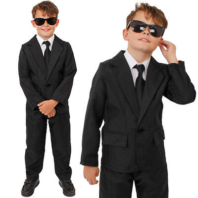 Men In Black Boys Costume Small Medium Halloween Mib3 Suit