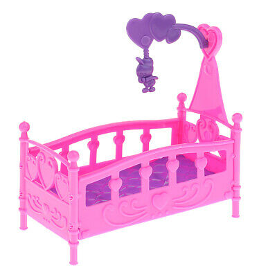Mini Detachable Baby Bed Crib Cradle Model For Kelly Dolls House Furniture
