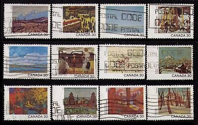 Canada 1982 #955-966 30¢ Canada Day Cpl Set Of 12 Fine Used Cat $11.80 (V087)