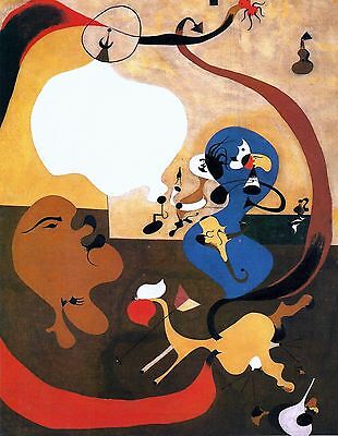 JOAN MIRO ,Dutch Interior II.  , 1989, OFFSET LITHOGRAPH UNSIGNED