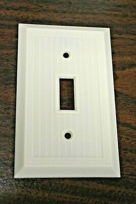 VINTAGE Single Gang Light Switch WALL PLATE NEW GE General Electric 92071 Ivory