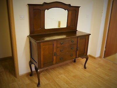Antique Oak dresser- classic looking piece with lovely mirror suggests handmade