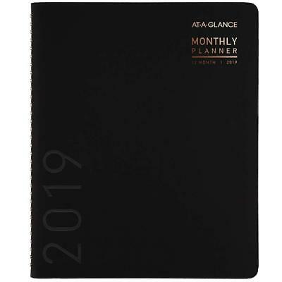 At-A-Glance Contemporary Monthly Plan/Premium Paper 8 7/8 x 11 Black 70-260X-05