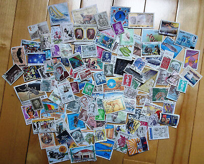 Over 150 Stamps worldwide Collection Off paper Random