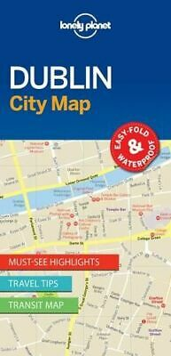 NEW Dublin City Map By Lonely Planet Folded Sheet Map Free Shipping