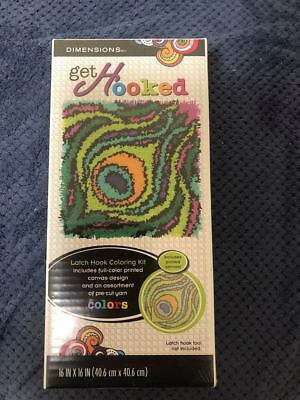 Dimensions Get Hooked Latch Hook Peacock Feather New Sealed Kit