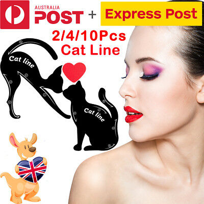 2/4/10Pcs Cat Eye Line Eyeliner Stencil Eyes Model Template Makeup Eyebrow Tools