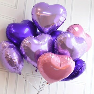 50PCS Love Heart Foil Helium Balloons Wedding Party Birthday Decora Romantic US