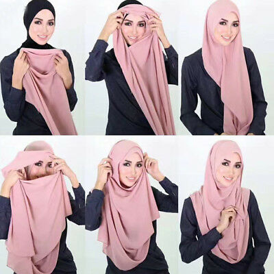 MAXI COTTON JERSEY 1 piece Al Amira Muslim Hijab Scarf Chest&Head Cover Scarf