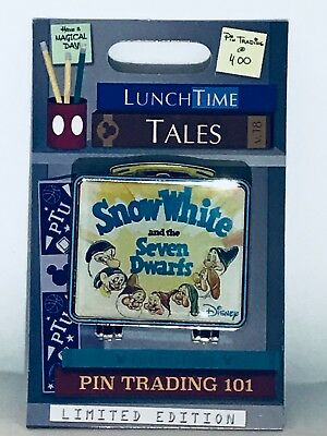 Disney Pin of the Month Lunch Time Tales Snow White and the Seven Dwarfs LE1500