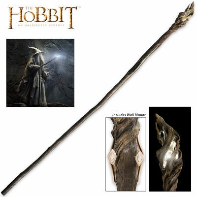 """73"""" Officially Licensed Hobbit Lord of the Rings Gandalf Wizard Staff w/ Mount"""