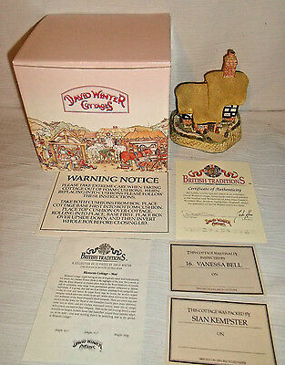 David Winter Cottages BLOSSOM COTTAGE In Box With Paperwork