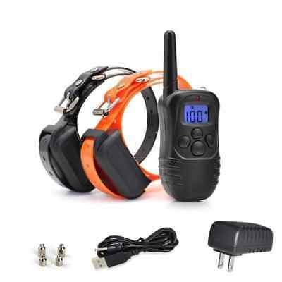 Waterproof Rechargeable Remote LCD Electric Dog Training Shock Collar