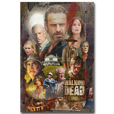 The walking Dead All Characters New TV Series Silk Poster 13x20 24x36 inch 021