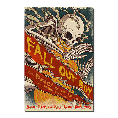 Fall Out Boy Rock Band Music Star Art Silk Poster 13x20 24x36 inch J706