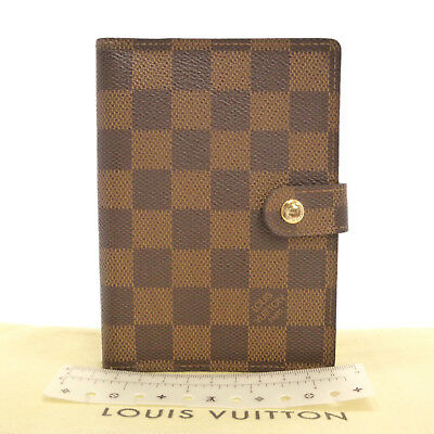 Authentic LOUIS VUITTON Agenda PM Day Planner Cover Damier Ebene R20700 #S212010