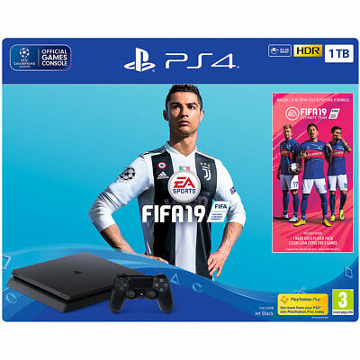 Sony PlayStation PS4 with FIFA 19 1TB Black