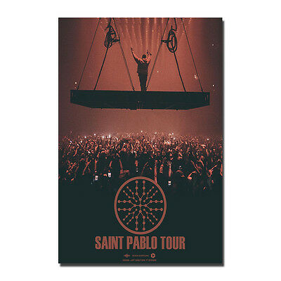 Kanye West Saint Pablo Tour Poster Art Silk Music Star Poster 13x20 20x30'' J917