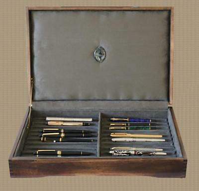 Fountain Pen Storage Display Chest, #670, Hand-Crafted, 22 Pens, Mahogany,  Usa