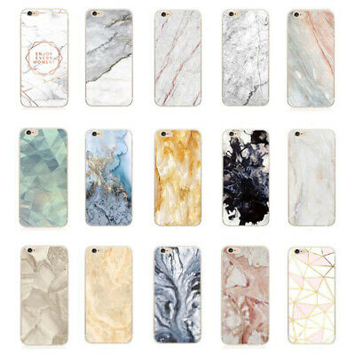 Ultra Slim Marble Soft TPU Silicone Back Case Cover For iphone SE 6 7 Plus XS XR
