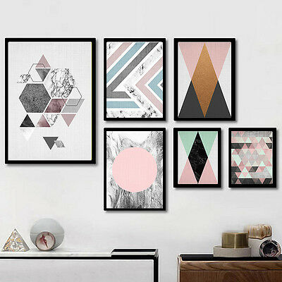 Modern Abstract Geometry Canvas Poster Nordic Art Picture Print Home Wall Decor