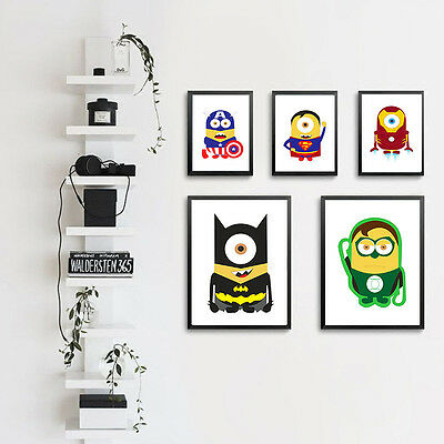 Superheroes Cartoon Canvas Poster Art Painting Modern Home Wall Decor for Kids