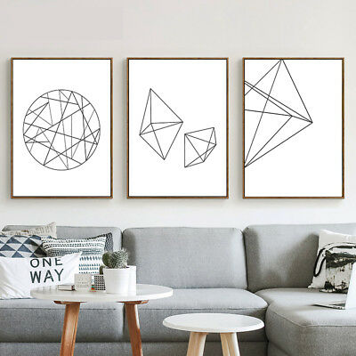 Geometry Abstract Canvas Poster Prints Nordic Minimalist Art Room Wall Decor