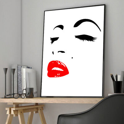 Marilyn Monroe Face Abstract Canvas Poster Nordic Minimalist Art Wall Decor