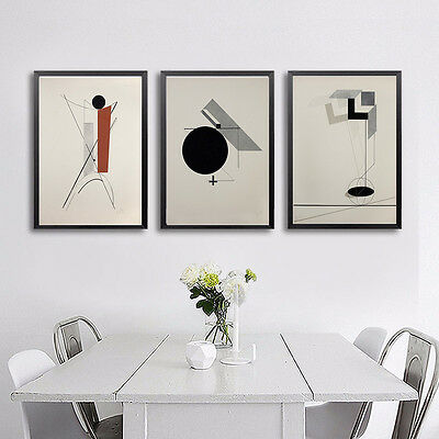 Nordic Abstract Art - Geometry Canvas Poster Print Modern Home Wall Decor