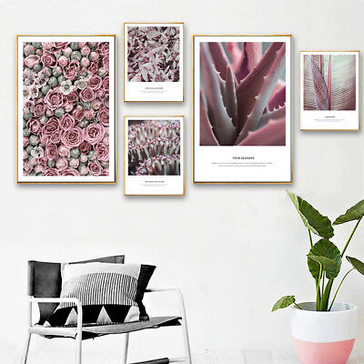 Rose Flower Canvas Poster Minimalist Wall Art Floral Print Nordic Style Picture